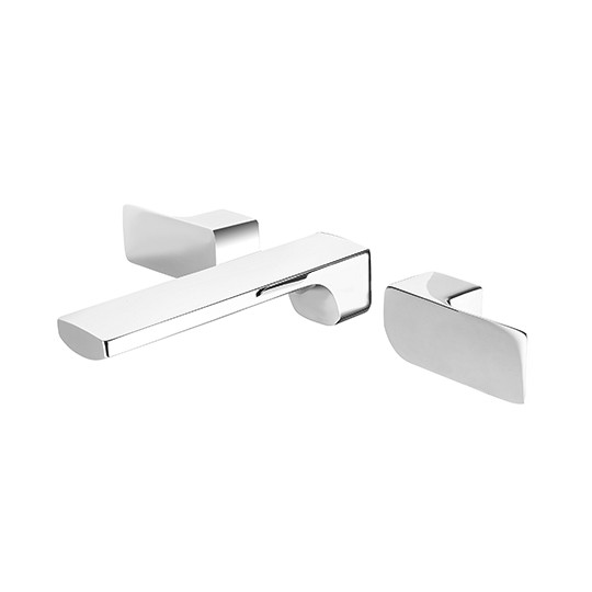 Two-Handle Wall-Mounted Basin Faucet (Lead-Free Brass)