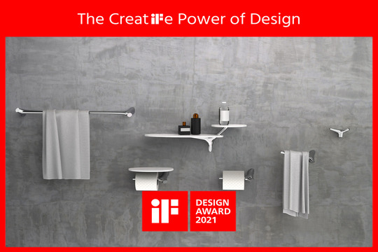 Justime's Nature Series Faucet and Bathroom Accessories Won the 2021 iF Designing Award!