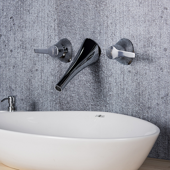 Nature Two-Handle Wall-Mounted Basin Faucet