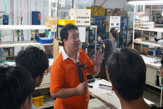 Students from Machinery & Electronics Department of Lio-Ho Senior High School, Taoyuan Visited Sheng-Tai Brassware