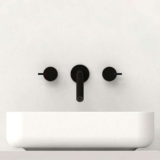 Lucky 7 Two-Handle Wall-Mounted Basin Faucet
