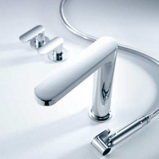 Charming Kitchen Faucet W/ Sprayer