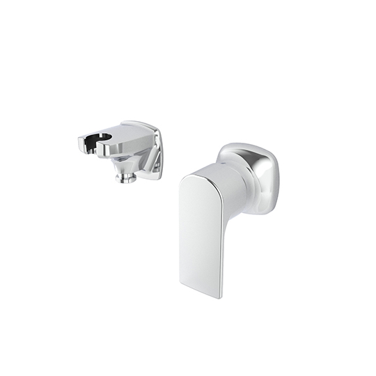 Concealed Shower Mixer W/Shower Holder & Wall Supply