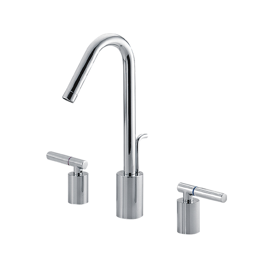 Two-Handle Widespread Basin Faucet W/Lift Rod
